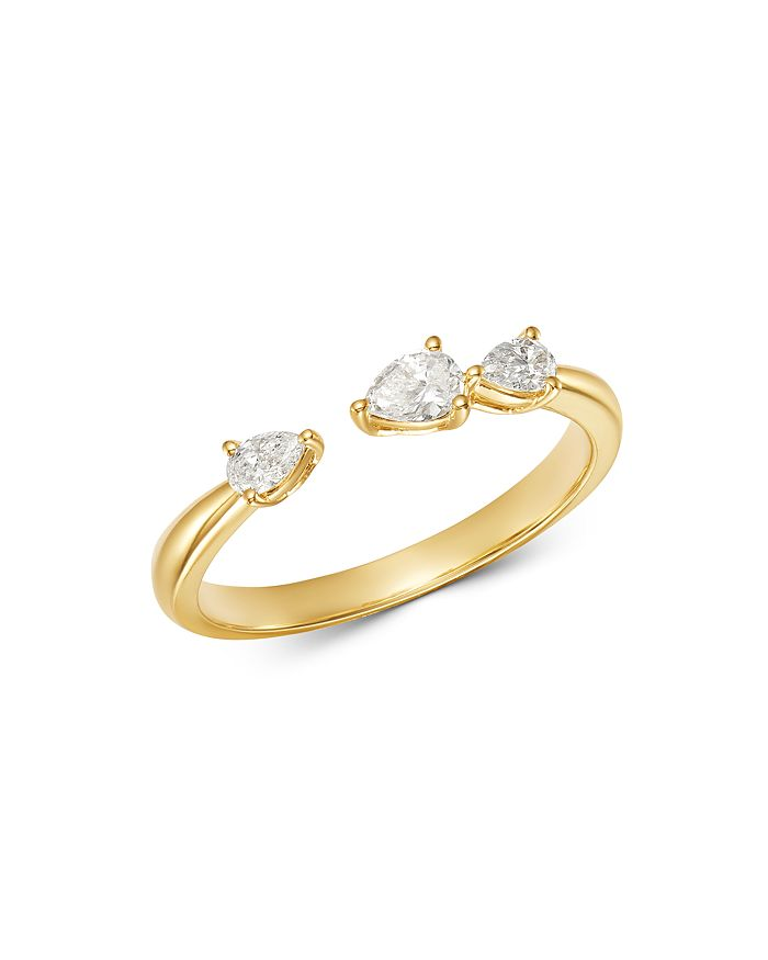 Bloomingdale's - Diamond Pear Shaped Open Ring in 14K Yellow Gold, 0.3 ct. t.w. - 100% Exclusive
