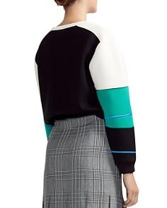 Maje - Tatoo Embroidered Color-Blocked Sweatshirt