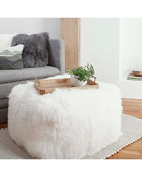 UGG® - Mongolian Fur Ottoman