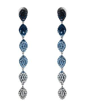 ATELIER SWAROVSKI Moselle Mini Drop Earrings in Blue/Silver