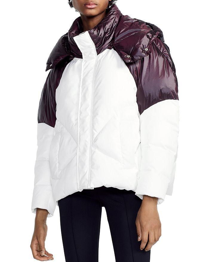 Maje - Brax Two-Tone Puffer Jacket