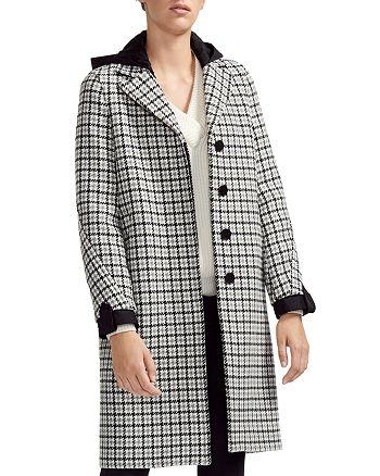 Maje - Glani Houndstooth Check Coat