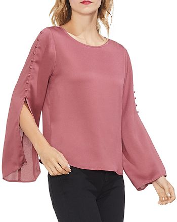 VINCE CAMUTO - Button-Sleeve Blouse