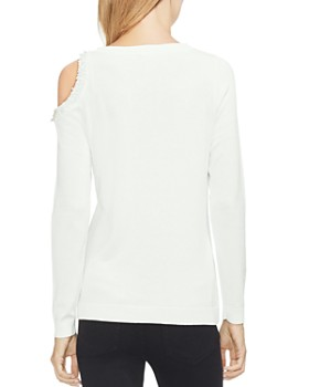 VINCE CAMUTO - Embellished-Neck Sweater
