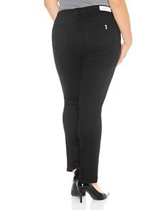 SLINK Jeans Plus - Straight-Leg Jeans in Solid Black