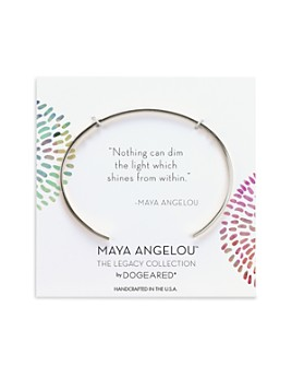 Dogeared - Maya Angelou Nothing Can Dim the Light Cuff Bracelet in 14K Gold-Plated Sterling Silver or Sterling Silver