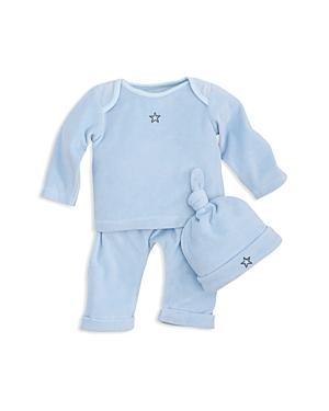 Elegant Baby Boys Velour LongSleeve Top PullOn Pants  Hat Set  Baby