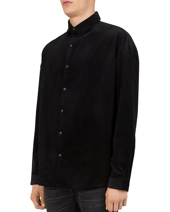 e706a27d The Kooples Lizzy Ribbed Regular Fit Button-Down Shirt | Bloomingdale's