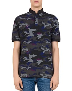 The Kooples - Canouflage-Skull Print Regular Fit Polo Shirt