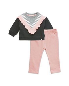 Sovereign Code - Girls' Briella And Alana Ruffled Sweatshirt & Leggings Set - Baby
