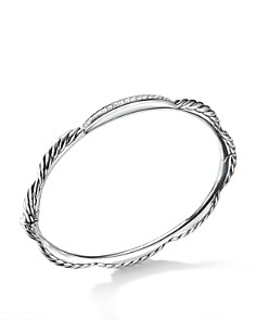 David Yurman - Tides Single Station Bracelet with Diamonds in Sterling Silver