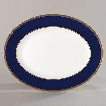 """Wedgwood - """"Renaissance Gold"""" Oval Platter, 13"""""""