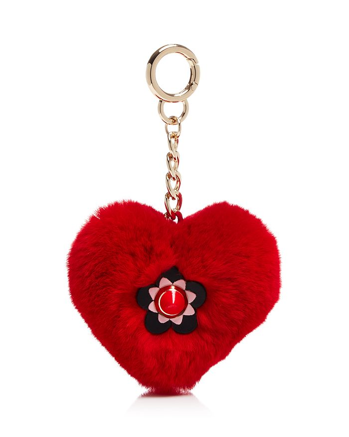 Maximilian Furs - Rabbit Fur Heart Keychain - 100% Exclusive