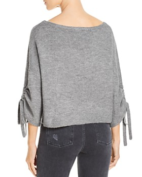Kenneth Cole - Cropped Boat-Neck Sweater