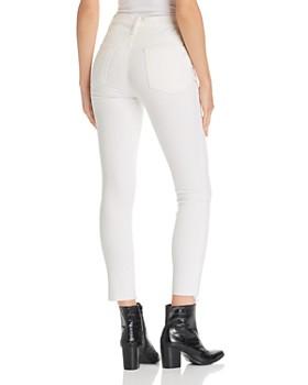 rag & bone/JEAN - Rosie Corduroy Raw-Edge Ankle Skinny Jeans in Vintage White