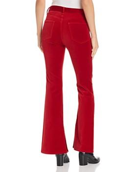 rag & bone/JEAN - Bella Flared Velvet Jeans in Red