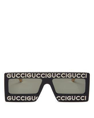 803f08b2cf Gucci Women s Swarovski Crystal-Embellished Oversized Rectangular Sunglasses