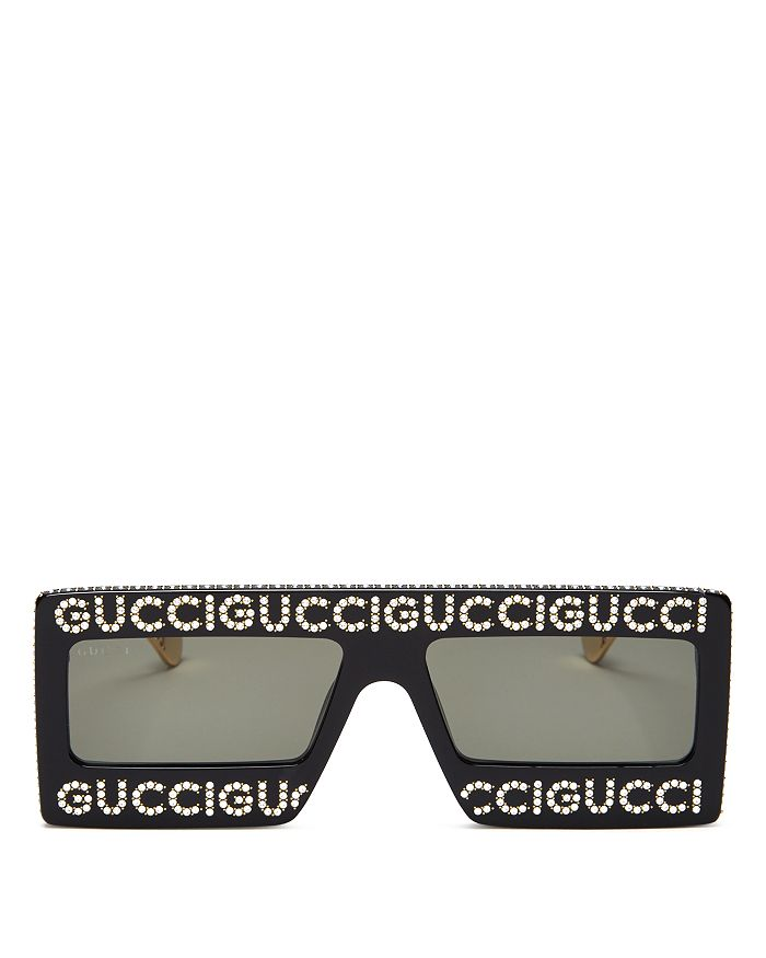 dc538072e112 Gucci - Women s Swarovski Crystal-Embellished Oversized Rectangular  Sunglasses