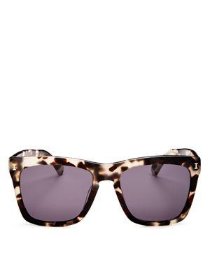 Women'S Los Feliz Square Sunglasses, 55Mm in White Tortoise/Gray