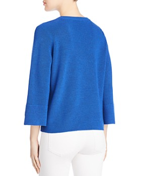Eileen Fisher - Merino Wool Bell Sleeve Sweater