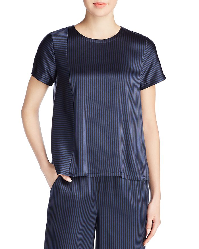Eileen Fisher Petites - Striped Short Sleeve Top - 100% Exclusive