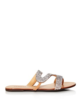 SCHUTZ - Women's Noemi Crystal Flat Sandals