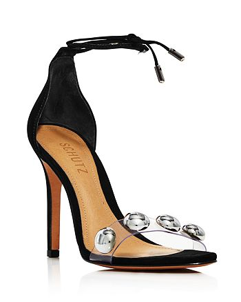 SCHUTZ - Women's Ramon Ankle-Tie Suede High-Heel Sandals