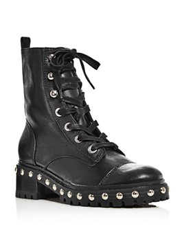 SCHUTZ - Women's Andrea Studded Leather Boots