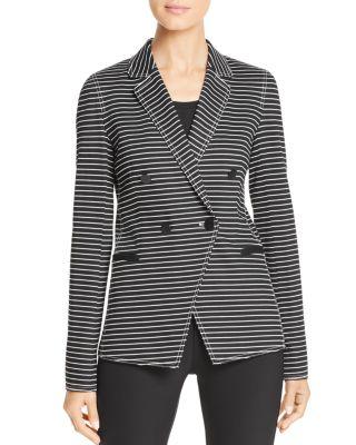 Devin Striped Jacket by Lafayette 148 New York