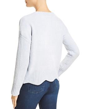 AQUA - Chenille Pointelle Scallop Hem Sweater - 100% Exclusive