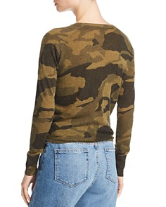 Olivaceous - Camo Long Sleeve Tie-Front Top