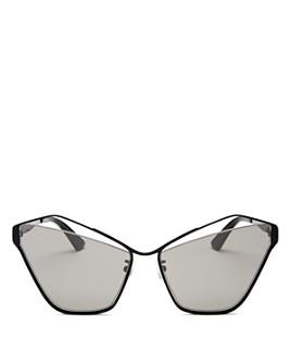 McQ Alexander McQueen - Women's Mirrored Cat Eye Sunglasses, 61mm