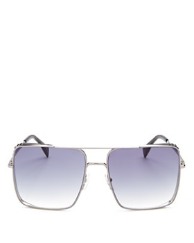 Moschino -  Women's Brow Bar Flat Top Square Sunglasses, 59mm