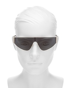 Moschino - Women's Flat Top Shield Sunglasses, 145mm