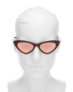 Moschino - Women's Slim Cat Eye Sunglasses, 52mm