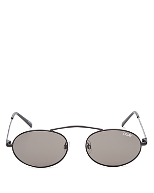 Quay X FINDERS KEEPERS FINAL STAND BROW BAR ROUND SUNGLASSES, 41MM