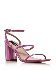 AQUA - Women's Maika Block-Heel Leather Sandals - 100% Exclusive