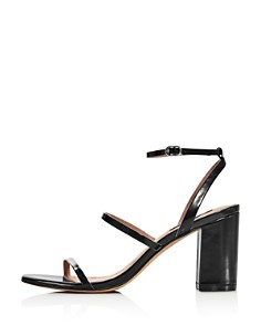 AQUA - Women's Maika Block-Heel Leather Sandals - 100% Exclusive