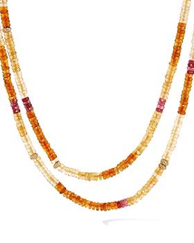 David Yurman - Tweejoux Necklace in 18K Yellow Gold with Madeira Citrine