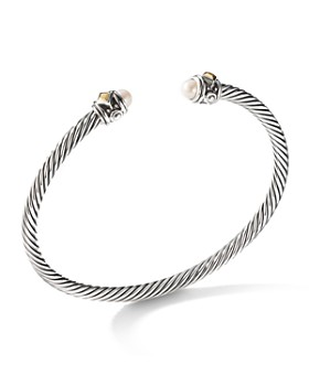 David Yurman - Renaissance Bracelet with Cultured Freshwater Pearls & 18K Yellow Gold