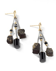 David Yurman - Bijoux Bead Link Drop Earrings with 18K Yellow Gold & Black Onyx