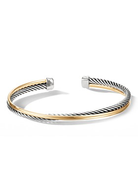 David Yurman - Crossover Bracelet with 18K Yellow Gold