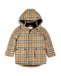 Burberry - Boys' Chrissy Vintage Check Hooded Down Puffer Coat - Little Kid, Big Kid