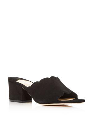 ISA TAPIA Women'S Chiqui Block-Heel Slide Sandals in Black