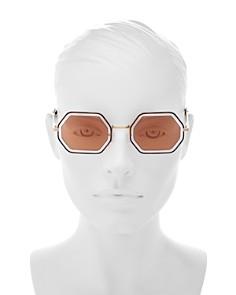 Chloé - Women's Poppy Mirrored Octagonal Sunglasses, 53mm