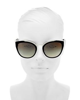 2f6de3a7b5 ... discount 54mm prada womens mirrored cat eye sunglasses 16b04 a3063 ...