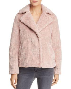 VERO MODA Lala Faux-Fur Jacket in Misty Rose