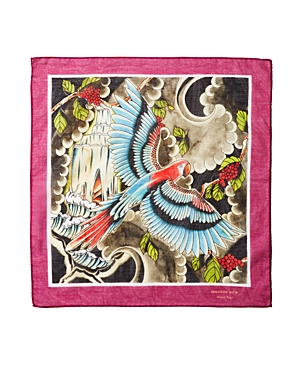 Massimo Alba Parrot-Print Handkerchief