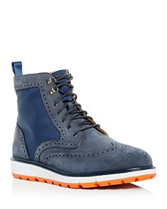 Swims - Men's Motion Waterproof Suede Brogue Wingtip Boots
