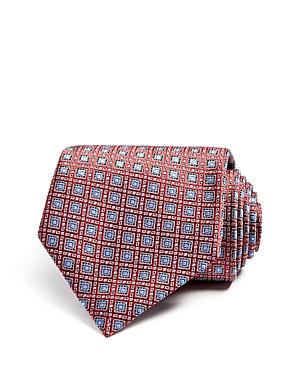 E Zegna Medallion Grid Classic Tie